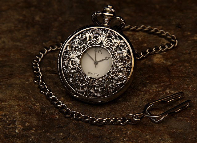 A beautiful silver pocket watch.